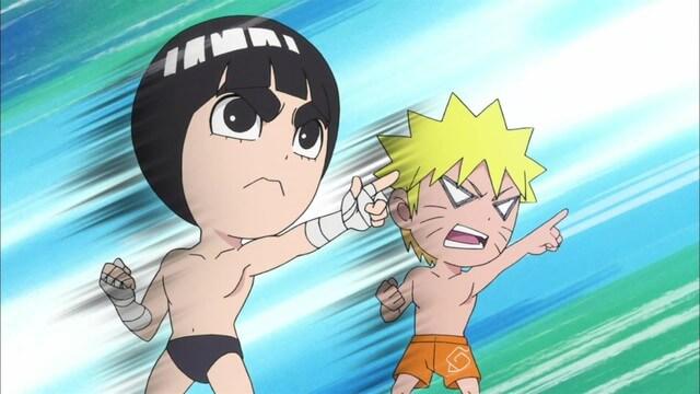 Naruto SD 16: Trojice válčících kuchařek / Čas umírnit mistra Gaie!