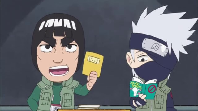 Naruto SD 22: Vždy dělej domací úkol na poslední chvíli! / Třetí třída - Lee! My jsme Tým Gai!