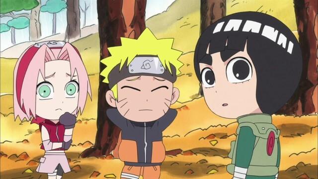 Naruto SD 28: Lovení hub Matsutake / Rozdělení Leeho a Nejiho